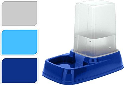 Futternapf mit 3L Reservoir - Futterspender Wasserspender Wassernapf für Hunde und Katzen Dunkelblau