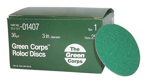 3M MMM1407 Disque Roloc 36gr 3 25-Bx Vert