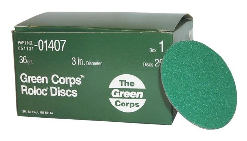 3M Schleif 405-051131-01407 Green Corps? Roloc? Schleif-Coated Polyester Disc (3m Green Corps Roloc Disc)
