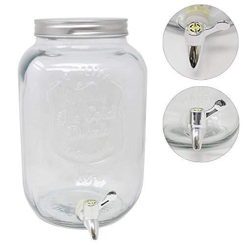 DRULINE 8 Liter Getränkespender Glance mit Hahn Saftspender Dispenser