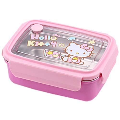 chaungying Lunch-Boxen,Bento Boxen Isolierte Brotdose Aus Hellokitty Cartoon Edelstahl