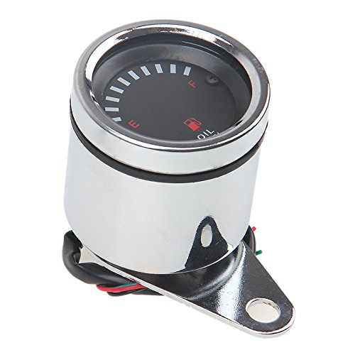 Motorrad Kraftstoffanzeiger 12V LED Tankuhr Universal Tankanzeige