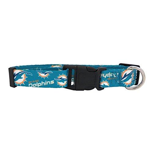 nfl-miami-dolphins-team-pet-collar-xsm-turquoise