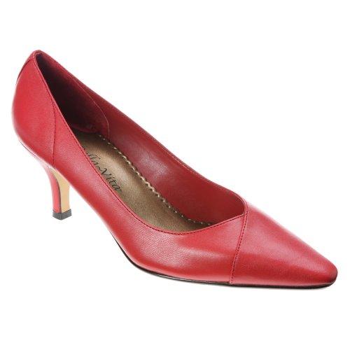 Bella Vita Wow Schmal Spitz Leder Stöckelschuhe Red