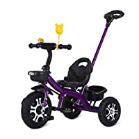 GYF Kids Trike,Tricycle-With Steel Frame And Rubber Tyres - For Children 24 Months And Older|Purple|White|Blue|75X50X85CM ( Color : Purple )
