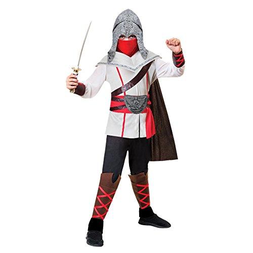 Amscan Ninja-Assassinen-Kostüm für Kinder Karneval bunt 140/152 (10-12 ()