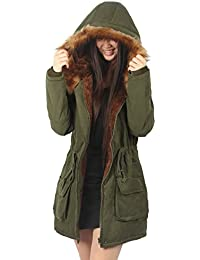 de59ef6ad83 iLoveSIA Womens Warm Winter Parkas Coats Faux Fur Lined Overcoats