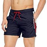 Tommy Hilfiger Herren SF MEDIUM Drawstring Shorts, per Pack Blau (Navy Blazer 416), Large (Herstellergröße: L)