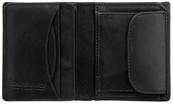 Tumble & Hide Compact Italian Vegetable Tanned Leather Wallet - 2010_THV Black