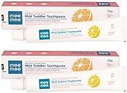 Mee Mee Fluoride-Free Orange Flavor Toothpaste, 70 g (Pack of 2)