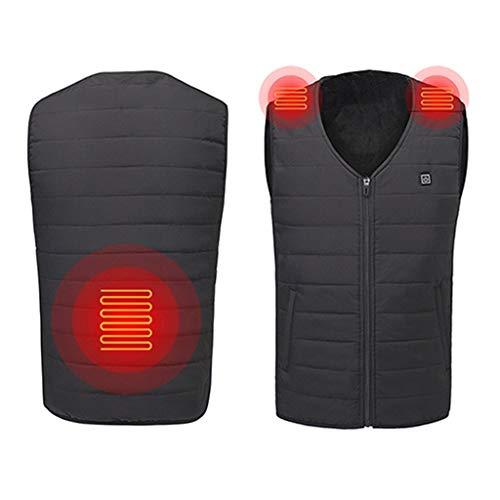 TWISFER Beheizte Weste, Elektrische Beheizte Jacke USB-Lade Heizweste für Herren Warme Heat Jacke mit 3 Fakultativ Temperatur für Outdoor-Aktivitäten Wandern Jagd Motorrad Camping