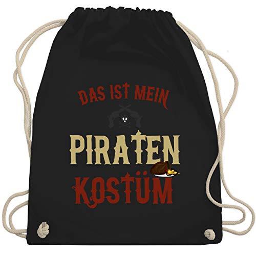 Karneval & Fasching - Das ist mein Piraten Kostüm - Unisize - Schwarz - WM110 - Turnbeutel & Gym Bag (Holzbein Piraten Kostüm)