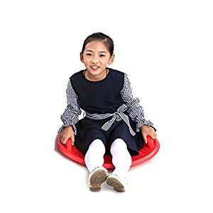 Byjia Disc Snow Rodel, Flexible Flying Saucer Winterrutsche Outdoor für Kinder und Erwachsene,Red,57 * 57 * 9.5cm
