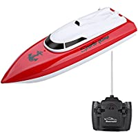 Price comparsion for Egoelife High Speed RC Boat Radio Controlled Remote Control Electric Boat for Kids Adults Pool Lakes & Outdoor Use