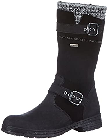Däumling Alia, Mädchen Kurzschaft Stiefel, Schwarz (70Denver schwarz), 37 EU