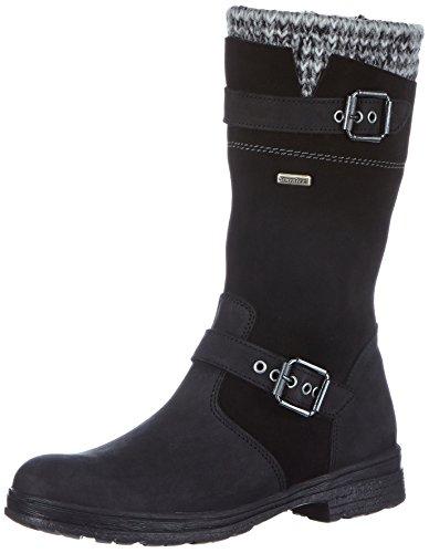 Däumling Marco RV - Alia RV, Mädchen Langschaft Stiefel, Schwarz (Denver schwarz 70), 37 EU