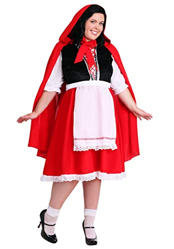 Plus Size Little Red Riding Hood Fancy dress costume 8X (Red Riding Hood Kostüm Plus)