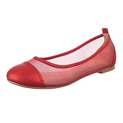 Ital-Design - Scarpe chiuse Donna Rosso (rosso)
