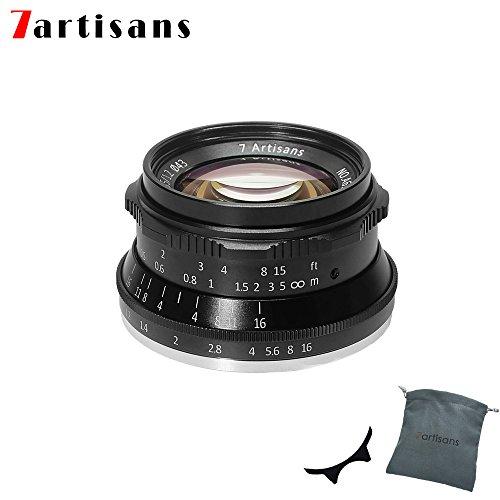 7Artisans 35mm F1.2 APS-C de grande ouverture de Prime Aluminium objectif pour Sony E Mont appareil photo sans miroir A6500 A6300 A6100 A6000 a5100 A5000 A9 NEX 3 NEX 3 N NEX 5 NEX 5T NEX 5R NEX 6 7
