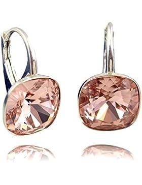 Crystals & Stones *Viele Farben* Silber 925 *SQUARE* - Ohrringe mit Kristallen von Swarovski® - Schön Ohrringe...