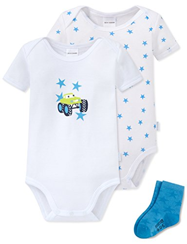 Schiesser Jungen Mütze, Schal & Handschuh Baby Set Cupcakes, 3er Pack, Blau (Sortiert 1 901), 068