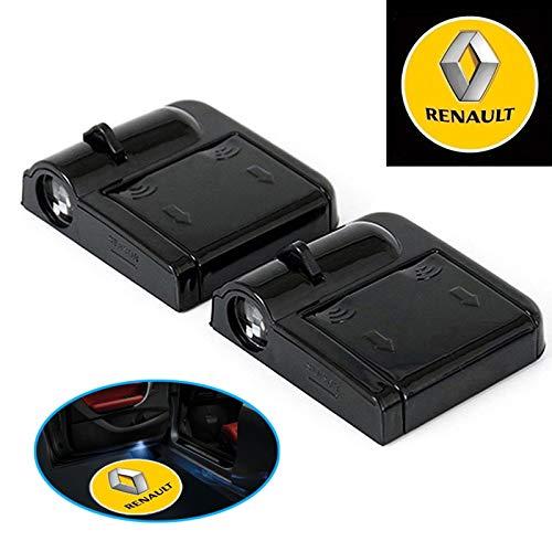 Luci LED per portiera auto L22, 2 pezzi, senza fili, per Renault