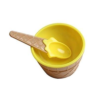 Plastique Crème Glacée Bols Spoons Set Dessert Cup Bowl Enfants Dessert Cuisine