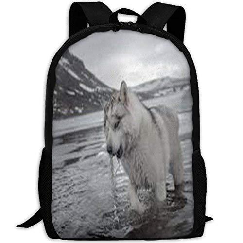 HOJJP Schultasche Dog Beach School Backpack Girls Teens Bookbag Cute School Bag Set Water Resistant Travel Daypack (Girl Cute Teen)