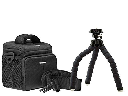 Foto Kamera Tasche ACTION BLACK ONE plus Reise Stativ Rollei MONKEY
