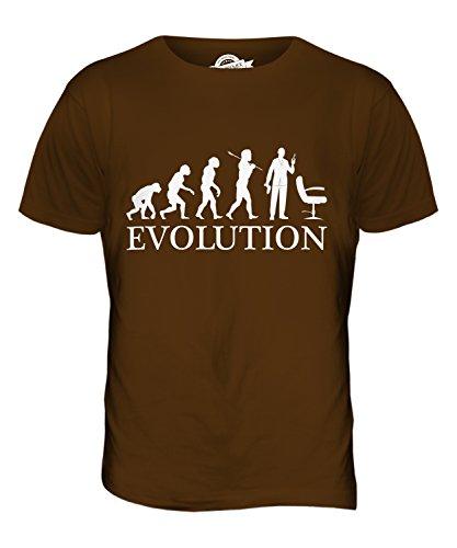 CandyMix Friseur Evolution Des Menschen Herren T Shirt Braun