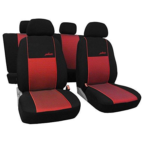 Saferide   Universal Rot Sitzbezüge Komplettset Sitzbezug für Auto Sitzschoner Set Schonbezüge Autositz Autositzbezüge PKW Sitzauflagen Sitzschutz Gallante VIP