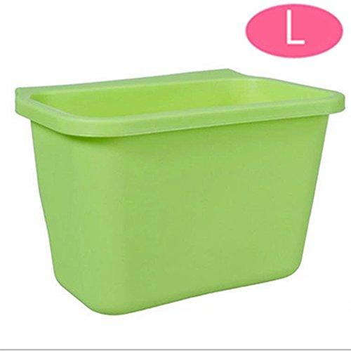 sunnymi Türen Hängen Mülleimer/Kreative Küche Müll Box Schrank Schale Aufbewahrungsbox/Unterschiedliches Design (L, Grün) (Film Aus Dem Ofen)