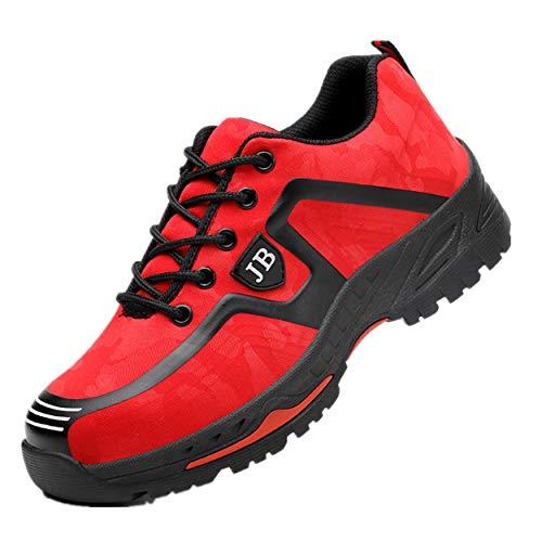 Ali-tone Damen Herren Arbeitsschuhe S3 Sportlich 200J Leicht Stahlkappe & Trittschutz Sicherheitsschuhe Durchdringungskraft verhindern 1200N Wanderhalbschuhe Schutzschuhe Hiking Trekking Schuhe