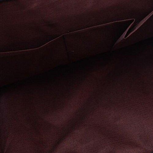 Zaino Donna Uomo, Beautytop Unisex Zaino Vintage Brosa Scuola , Zaini Borsa Schoolbag Ragazza Donna Signore Zaino Borsa in Pelle Borsetta Tracolla Zainetto Cartella Blu