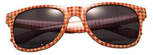 Panelize ® TOP Marken Brille Andreas rot weiß kariert Accessoire UV 400 Sonnenschutz Qualität ...