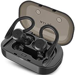 HolyHigh Auriculares Bluetooth 5.0, Auriculares Inalámbricos Deportivos In Ear IP67 Impermeable Cascos Inalámbricos con Estuche de Carga Micro para Running Deporte Gimnasio para iOS Android