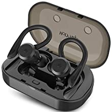 HolyHigh Wireless Headphones Sports Bluetooth 5.0 Earphones IPX7 Waterproof 26H Play Time In Ear Mini Stereo Sound Wireless Headphones with Charging Case Micro for Running Sport Gym for iOS Android
