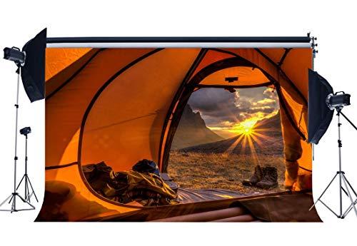 e378654cd8d17 EdCott Summer Camp Backdrop 5X3FT Vinyl Tent Backdrops Nature Escalada de  montaña Fotografía Fondo para Baby Wild Adventure y Escuela Campo ...