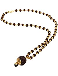Stylepotion Premium Quality Gift Item Handmade Traditional Jewellery Ethnic 22K Gold Plated Rudraksh Beads Brass Mala Chain 24 inches with Pendant for Men and Women