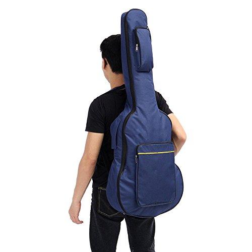 'perg Transferencia 41clásica Guitarra acústica Mochila Gig Bag Dual Strap transporte acolchada (Azul)... (Azul)