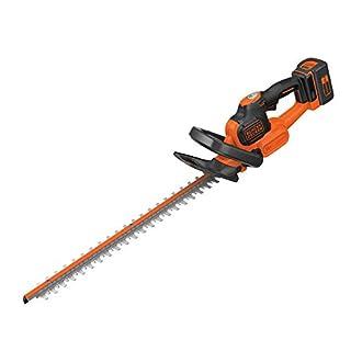 BLACK+DECKER GTC36552PC-GB Cordless Anti-Jam Hedge Trimmer with 2.0 Ah Lithium Ion Battery, 36 V, Orange, 55 cm
