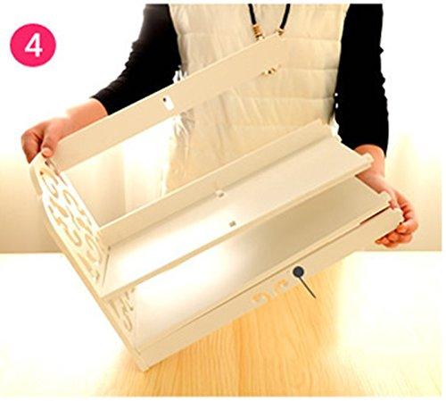 DFHHG® Soporte para libros de escritorio 40 * 30 * 21cm Creative Woody Bookshelf Hollow durable ( Color : #2 )