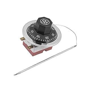 Sourcingmap 50–300degrés NC contrôle de température capillaire Thermostat pour four