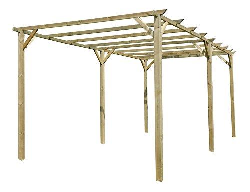 Verdelook ampio e resistente gazebo in legno impregnato per arredo e decorazione degli esterni, misura 6x3m