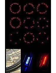bioings (TM) impermeable 1par bicicleta de carretera bicicleta de montaña luces Multi patrón LED tapones de válvula de neumático rueda radios luz yc052-sz