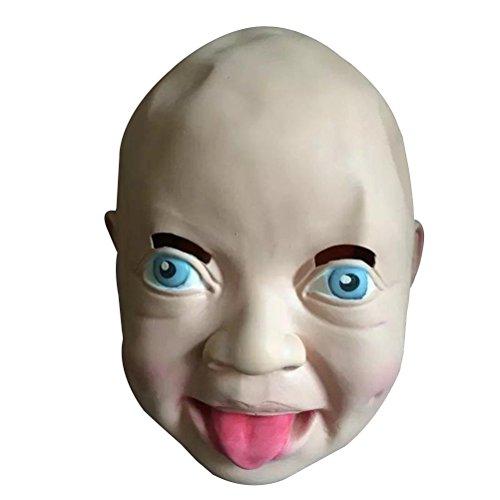 Tinksky Masque De Halloween Sourire Beignet Latex Masque Costume