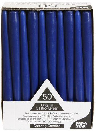 papstar-17965-50-velas-de-candelabro-diametro-22-cm-longitud-25-cm-color-azul