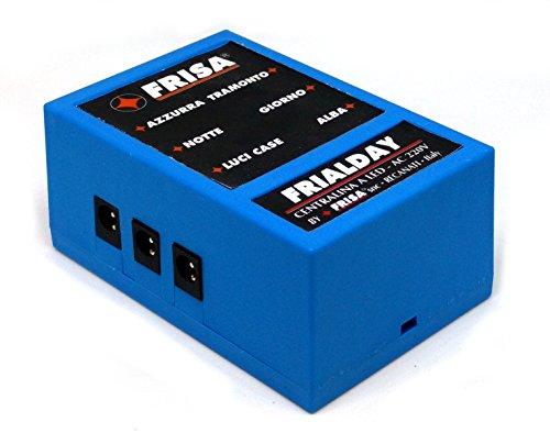FRISA FRIALDAY Centralina per presepi di Piccole Dimensioni - Kit Completo di LUCI LED e Tutti Gli Accessori necessari - 4 Fasi (Alba, Giorno, Tramonto, Notte)