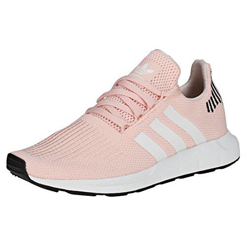 adidas Damen Swift Run Gymnastikschuhe, Pink (Icey Pink F17/Ftwr White/Core Black Ice Pink F17/Ftwr White/Core Black), 36 EU (Womens Black Ice)