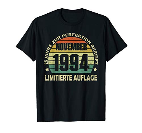 25. Geburtstag 25 Jahre Jahrgang 1994 November Beste Tshirt T-Shirt -